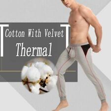 Pajamas Winter Warm Thermal Men Long Johns Sexy Underwear Tighten Black Cotton