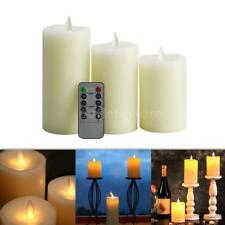 Electric Flameless LED Candle Light Atmosphere Lamp Warm White & Controller W6H2