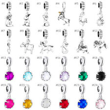 Animals Crystal European Silver Charms Beads Dangle Pendant Fit 925 Bracelets