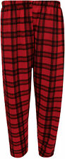 New Plus Size Womens Tartan Check Print Elastic Waist Ladies Long Trousers