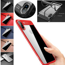 Thin Shockproof Hybrid Clear TPU Protective Hard Back Case Cover For iPhone X 7