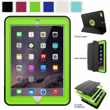 "Shockproof Rugged Leather Case Cover with stand for Ipad 5 2017 5th Gen 9.7"" USA"