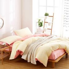 Lovely Warm Pink And White Colour 4PC Bed Set Queen/King/Single Size