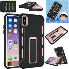 Hybrid Rugged Kickstand Armor Protection Hard Shockproof Cover Case For iPhone X