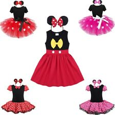 Infant Baby Kids Girl Bow Polka Dots Minnie Mouse Dress Tutu Skirt Costume Party