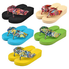 Women flip flops platform wedges sandals platform flip slippers beach shoes G4K4