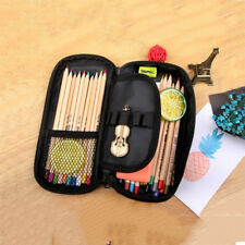 Fashion Pencil Bag Pen Pouch Cosmetic Makeup Bag Womens Girls Double Layer New