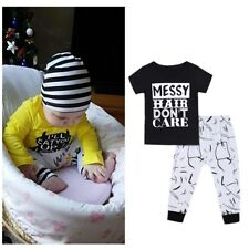 Kids Baby Girl Toddler Cotton Clothes Set T-shirt Top+Long Leggings Pants Outfit