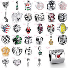 European Silver Charms Bead lots Pendant Fit 925 Sterling Bracelet Chain Jewelry