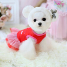 Pet Dog Clothes Dress Puppy Coat Chihuahua Red Bear Apparel For Teacup XXXS XXS