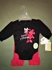 Disney Mickey Mouse Baby Girl Merry Christmas 2 Piece Outfit Size 3 Month NWT