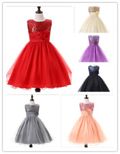 Baby Flower Girl Party Sequins Dress Wedding Bridesmaid Dresses Princess Fashion