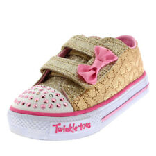 Kids Girls Skechers Twinkle Toes Shuffles Starlight Style Bow Trainers UK 1-11