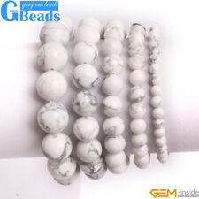 Handmade Natural White Howlite Turquoise Beaded Stretchy Bracelet Free Shipping