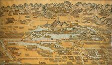 Poster Print Antique Old Maps 1888 Chinese Asia Map