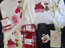 NWT 4t 5t Gymboree Cozy Owl House Ivory Pink Shirt Plaid Jean Skirt Embroidered