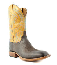 Lucchese M2662 Alan Mens Dark Brown Leather Cowboy, Western Boots EE (Wide)