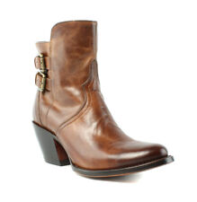Lucchese M4986 Catalina Womens Cognac Brown Leather Cowboy, Western Boots