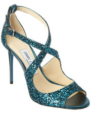 Jimmy Choo Emily 100 Galaxy Coarse Glitter Fabric Sandal