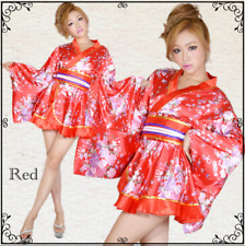 Hot Sexy Short Vintage Yukata Japanese Haori Kimono With Obi Cosplay Women Dress