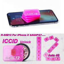 For iPhone 6p/6sp/6s/7/7p/8p/8/X 4G rsim Nano Unlock R-SIM 12 Card ios 10.x 11.x
