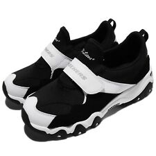 Skechers DLites 2 Extra Keen Strap Black White Women Shoes Sneakers 88888107-BLK