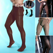 Mens THERMAL Footless Pantyhose Tights Black Winter Full Length Tights New L/XL
