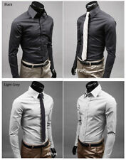 New Fashion Luxury Mens Formal Casual Suits Slim Fit Dress Shirts 17 Colours KL2
