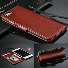 Genuine Real Leather Flip Card Slots Wallet Case Cover Skin for Apple iPhone 8