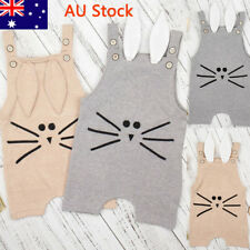 AU Baby Boys Girls Winter Rabbit Outfit Newborn Kids Cute Romper Infant Jumpsuit