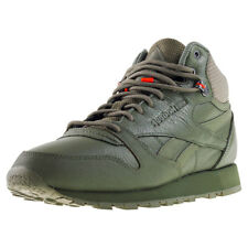 Reebok Classic Leather Mid Twd Mens Trainers Green New Shoes