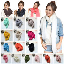 New Fashion Women Girls Casual Classic Solid Color Soft Scarf Stole Wrap Shawl