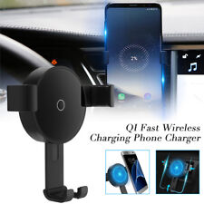 QI Wireless Car Charger Air Vent Dashboard Mount Cell Phone GPS Stand Holder