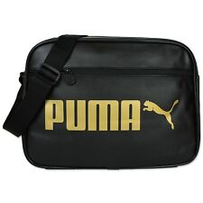 Puma Campus Reporter Bag Messenger Bag Shoulder Bag Black Gold Airliner