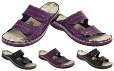 Womens COOLERS LEATHER Sandals Ladies Flat Strap Summer Shoes Sz Size 4 5 6 7 8