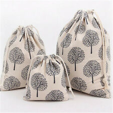 Handmade Linen Cotton Drawstring Gift Bag Party Candy Bag Fortune Tree 195B E