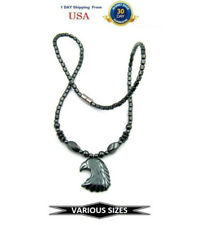 Eagle Hematite Magnetic Necklace, Magnetic Therapy Necklace With Pendant #MHN116