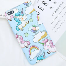 Shockproof Unicorn Pattern Hard Skin Case Cover For Apple iPhone 5 6s 7 Plus 8 X