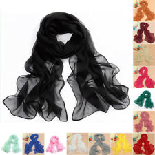 Elegant Womens Girl Candy Colors Long Crinkle Scarf Wrap Voile Wraps Stole Shawl