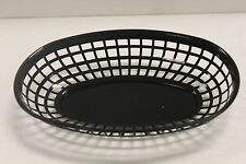 LOT OF 12- Plastic OVAL FOOD BASKET Fast Food French Fry Sandwich NEW - 3 Colors