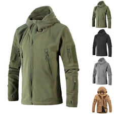 New Men Hunting Outdoor Polar Fleece Army Softshell multi Tactical Hooded Jacket