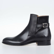 MAISON MARTIN MARGIELA MM22 New Man Black Leather Ankle Boots Shoes Made Italy
