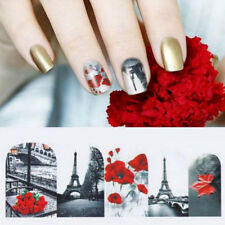 High Nail Art Water Decals Transfers Stickers Paris Holidays Love Cat Valentines