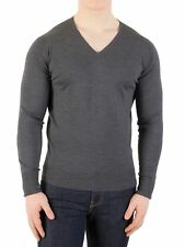 John Smedley Men's V-Neck Knit, Grey