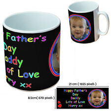NEW PERSONALISED FATHERS DAY CUSTOM GIFT MUG YOUR IMAGE PHOTO TEXT