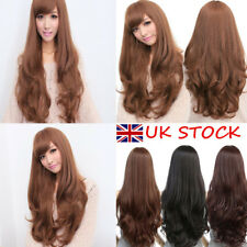 Girl Synthetic Curly Wavy Long Hair Fashion Style Full Wig Coloured Cosplay Hair