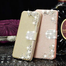 Leather Diamonds Wallet Flip Magnetic Stand Case Cover For Apple iPhone 5C