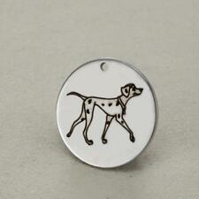 Stainless Steel Dalmatians Pet Dog Charm Pendant, Jewelry Supply, MSA13-0049
