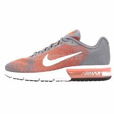 Nike Air Max Sequent 2 Running Mens Shoes Grey Orange 852461-008