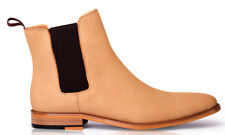 """Antoine & Stanley """"Wolf Neutral Nubuck"""" Leather Boots Mens"""